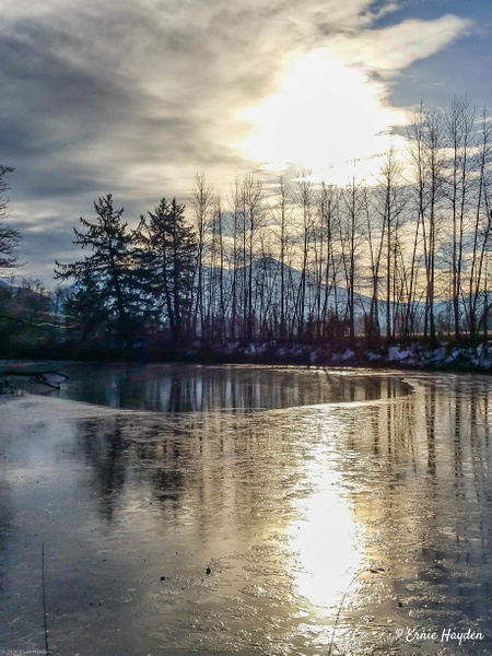 Icy Reflections - Landscapes - Rising Moon NW Photography