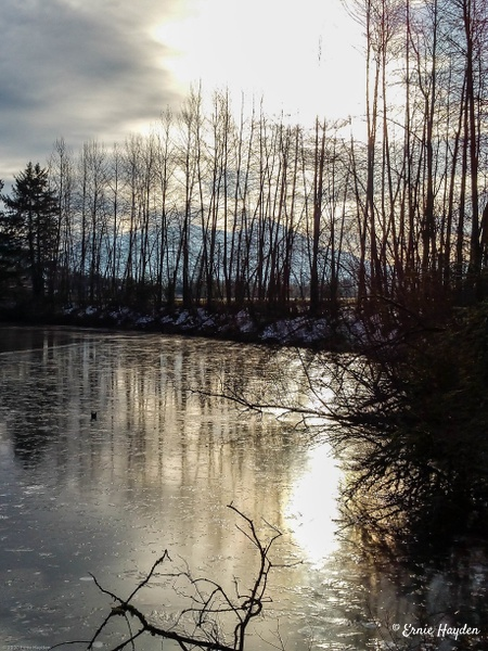 Icy Reflections 2 - Landscapes - Rising Moon NW Photography