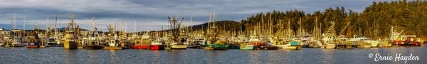 Cap Sante Harbor - Golden Hour - Rising Moon NW Photography