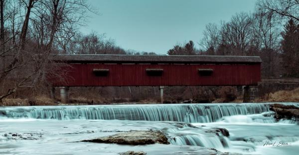 210107_Cataract Falls Covered Bridge - Waterfalls - Mark Edwards Photography