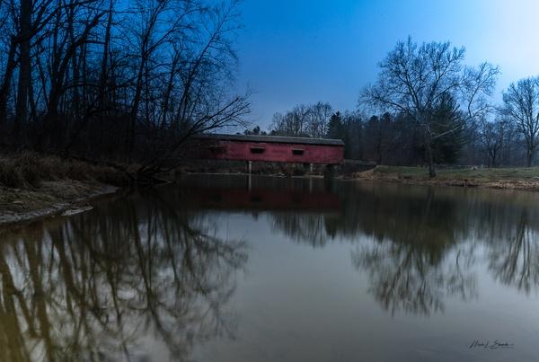 210107_Cataract Covered Bridge_for FB_001 - Waterfalls - Mark Edwards Photography