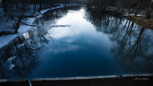 210206_White River from Potter's Covered Bridge - Waterfalls - Mark Edwards Photography