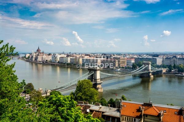 Panoramic-view-of-Budapest-featuring-Chain-Bridge - Photographs of Budapest, Hungary.