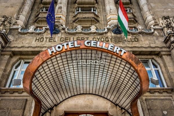 Hotel-Gellert-entrance-canopy-Budapest - Photographs of Budapest, Hungary.