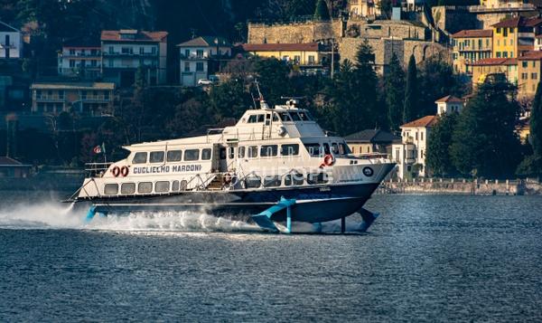 Fast-ferry-Lake-Como-Italy - Photographs of Lake Como, Italy.