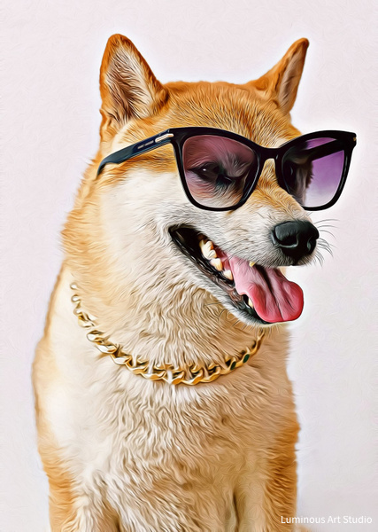 Cool-Dog-Art-013 - Pet Illustrations - LuminousLight