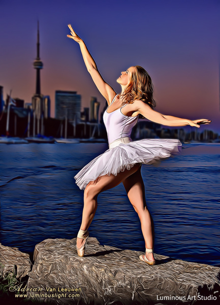 Ballerina-Toronto-Lake-08 - People Illustrations - LuminousLight