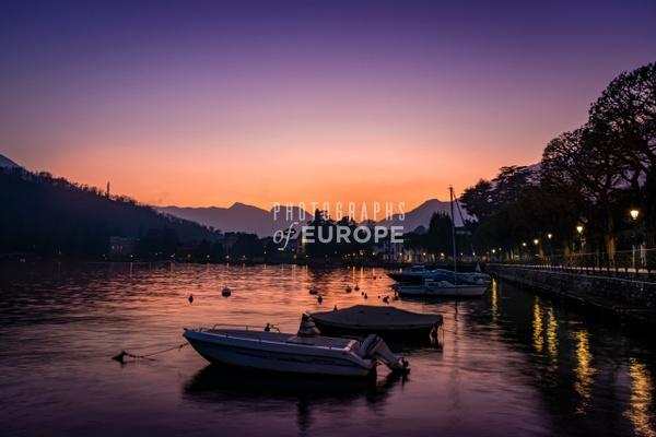 Sunset-at-Lenno-Lake-Como-Italy - Photographs of Lake Como, Italy.