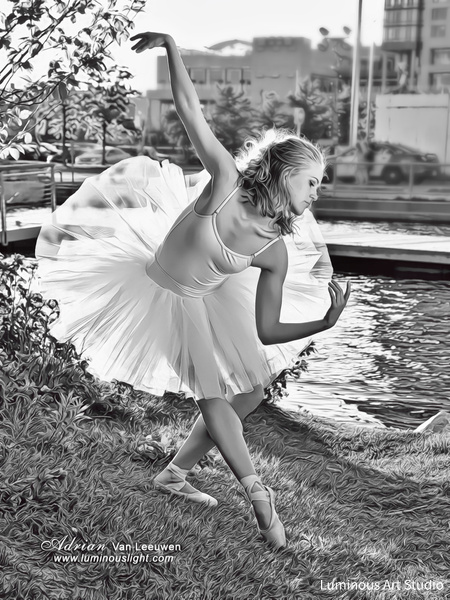 Ballerina-Lake-01 - People Illustrations - LuminousLight