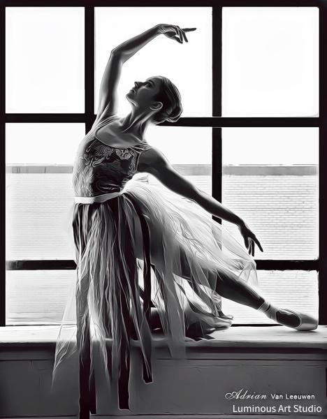 Ballerina-In-Window-02 - People Illustrations - LuminousLight