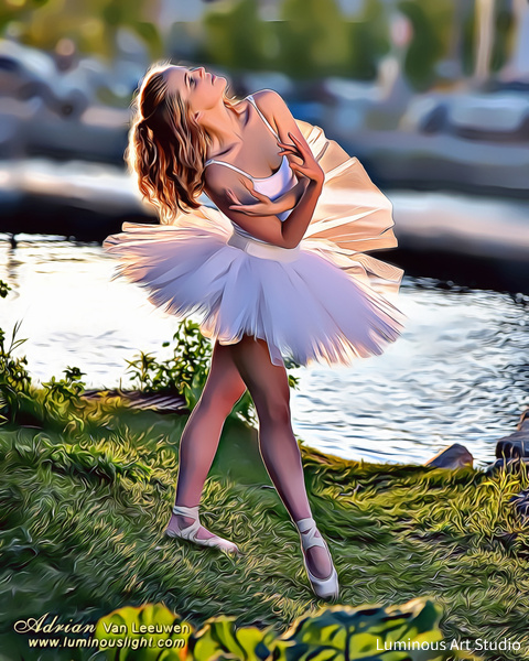 Ballerina-By-Lake-04 - People Illustrations - LuminousLight