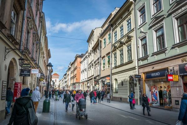 Florianska-shopping-street-Krakow-Poland - Krakow, Poland