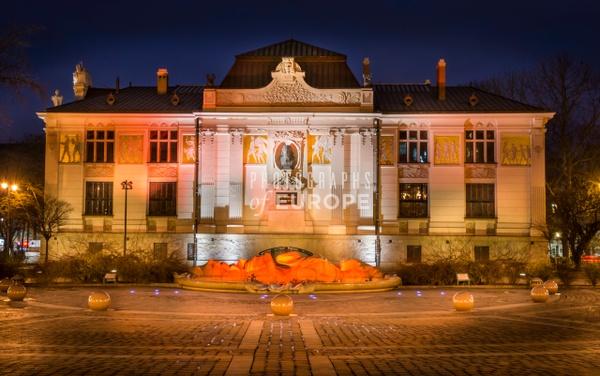 Jan-Matejko-building-at-night-Krakow - Krakow, Poland
