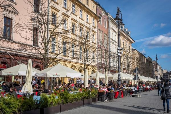Restaurants-in-main-market-square-Krakow-Poland - Krakow, Poland
