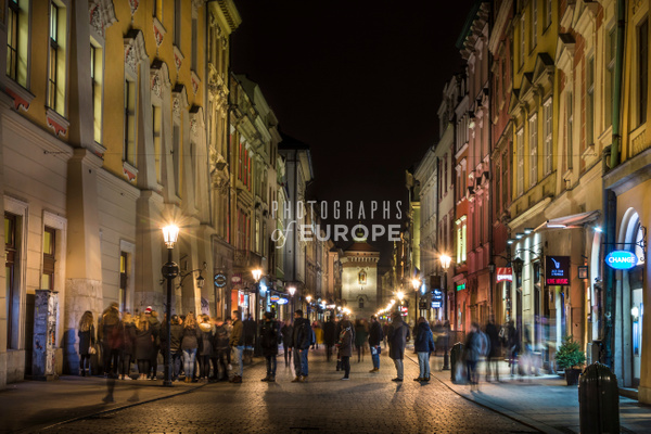 Florianska-streetlife-at-night-Krakow-Poland - Krakow, Poland