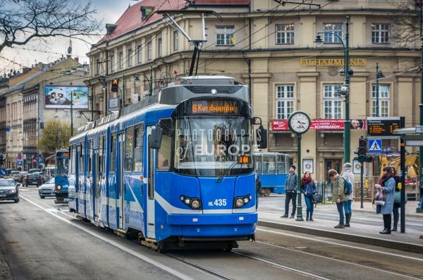 Tram-at-Filharmonia-Krakow-Poland - Krakow, Poland