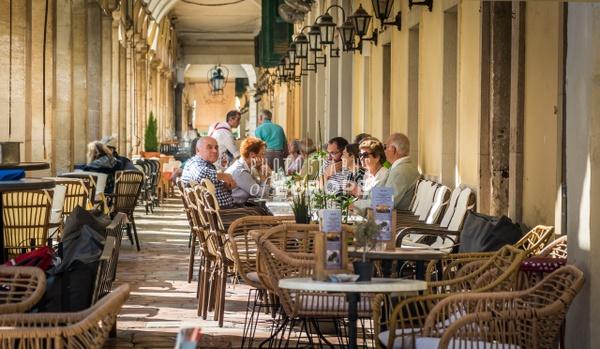 Aegli-Restaurant-Listón-Corfu-Old-Town-Greece - Photographs of Corfu Old Town, Greece.