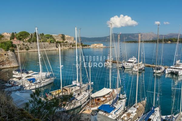 View-of-Marina-Corfu-Old-Town-Greece - Photographs of Corfu Old Town, Greece.