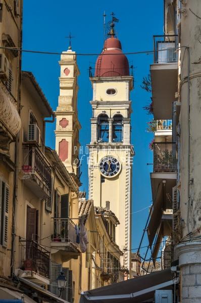 St-Spyridon-Church-tower-Corfu-Old-Town-Greece - Photographs of Corfu Old Town, Greece.