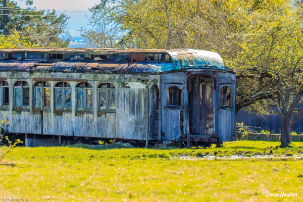 Antique Pullman Car - Golden Hour - Rising Moon NW Photography