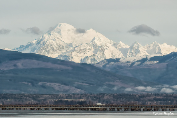Mount Baker - Overlooking Marathon Causeway - Landscapes - Rising Moon NW Photography