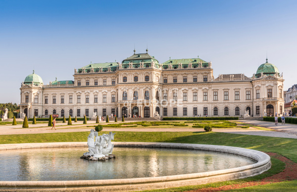Belvedere-Palace-facade-Vienna-Austria - Photographs of Granada, Spain