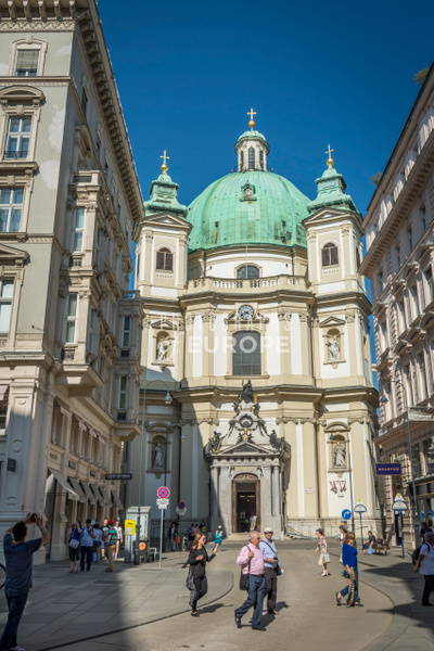 Peterskirche-from-Graben-Street-Vienna-Austria - Photographs of Granada, Spain