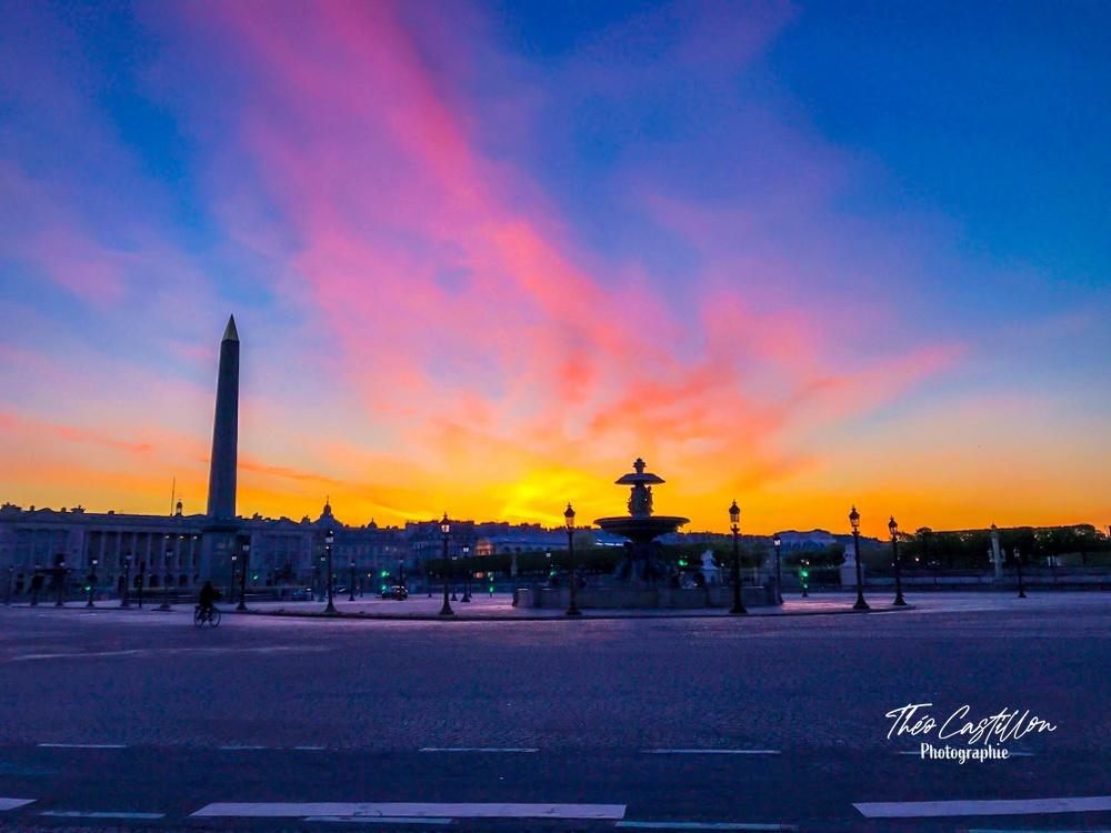 Lever de soleil sur la Place de la Concorde