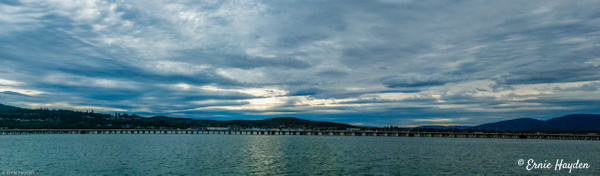 Panorama - Sunset Over Anacortes - Golden Hour - Rising Moon NW Photography