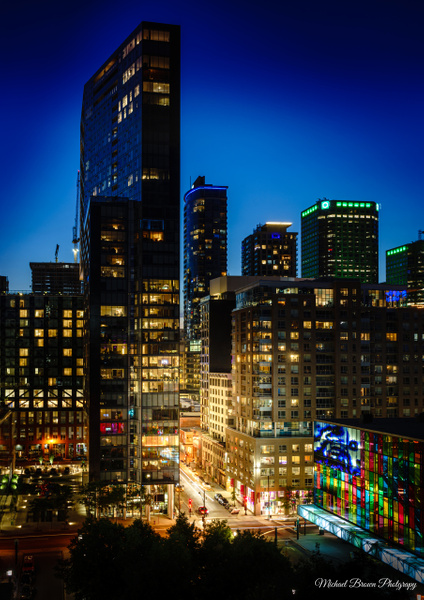 Montreal Skyscapers by MichaelBrownPhotography