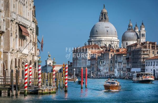 Basilica-di-Santa-Maria-della-Salute-Grand-Canal Venice-Italy - Photographs of Venice, Italy..