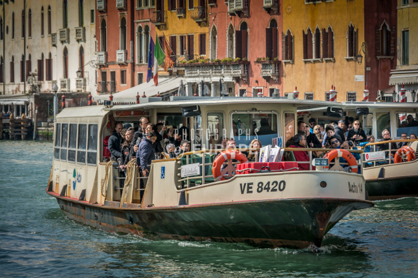 Busy-Venice-Water-Buses-Grand-Canal-Venice-Italy - Photographs of Venice, Italy..