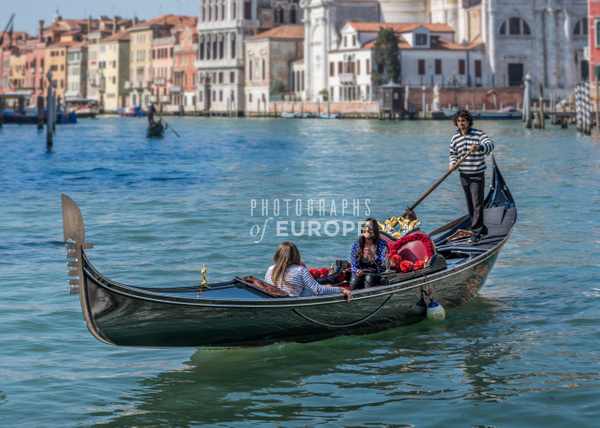 Girl-smiling-in-gondola-Grand-Canal-Venice-Italy - Photographs of Venice, Italy..