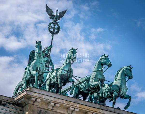 Brandenburg-Gate-Quadriga-Statue - Photographs of Berlin, Germany.
