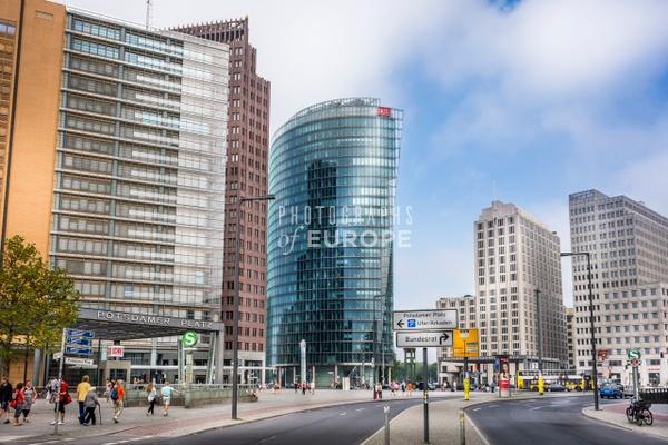 Potsdamer-Platz-modern-buildings-Berlin-Germany - Photographs of Berlin, Germany.