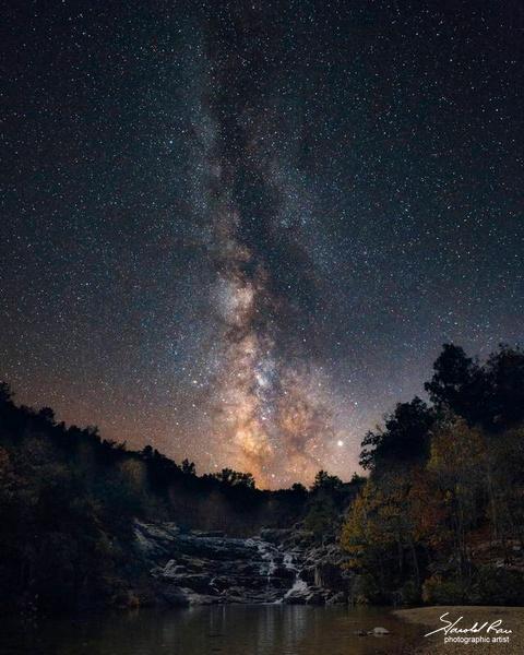 Milky Way over Rocky Creek Falls
