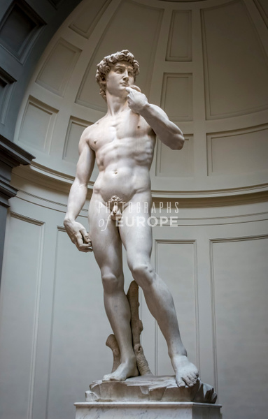Michelangelo-statue-of-David-Florence-Italy-4 - Photographs of Florence and Pisa, Italy.