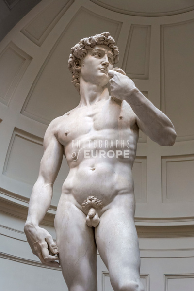 Michelangelo-statue-of-David-Florence-Italy - Photographs of Florence and Pisa, Italy.