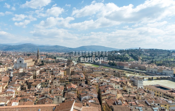 Panoramic-view-of-Florence-from-Duomo-Tower-Italy - Photographs of Florence and Pisa, Italy.