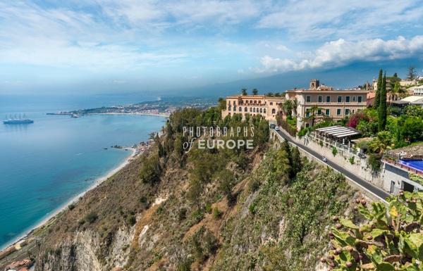 Coastal-view-from-Taormina-Sicily-Italy - Photographs of Sicily, Italy.