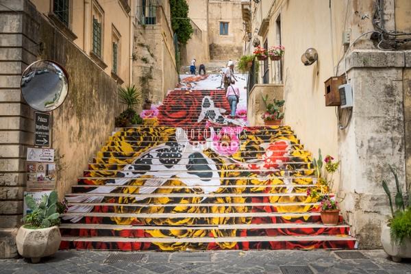Staircase-art-Noto-Sicily-Italy - Photographs of Sicily, Italy.
