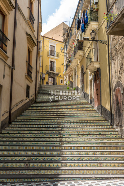 Tiled-stairs-Vizzini-Sicily-Italy - Photographs of Sicily, Italy.