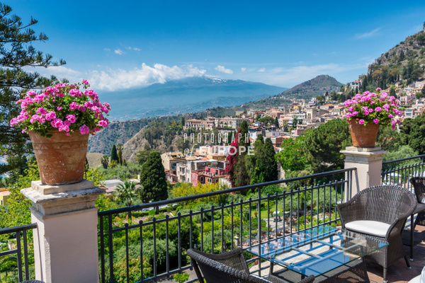 View-from-terrace-Belmond-Grand-Hotel-Timeo-Taormina-Sicily-Italy - Photographs of Sicily, Italy.