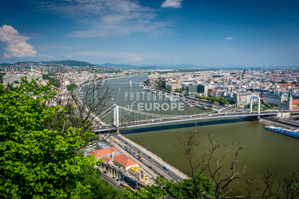 Panoramic-view-River-Danube-Budapest-Hungary - Photographs of European famous places and landmark buildings..