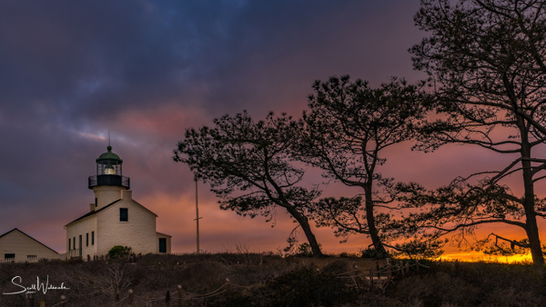 Point Loma Lighthouse at Sunset by ScottWatanabeImages