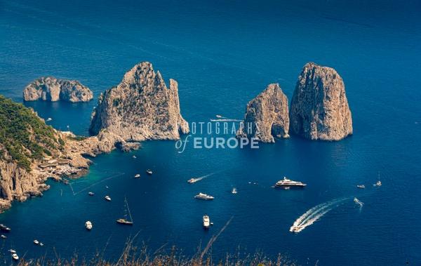 Faraglioni-Rocks-from-Mount-Solaro-Capri-Italy - Photographs of the Amalfi Coast, Capri and Sorrento, Italy