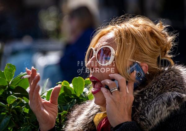 Italian-woman-on-phone-Sorrento-Italy - Photographs of the Amalfi Coast, Capri and Sorrento, Italy
