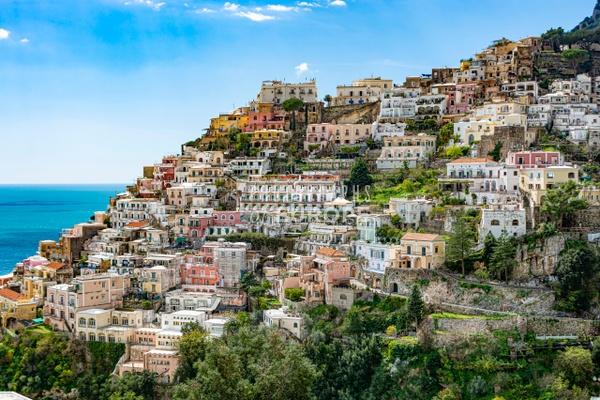 Tumbling-houses-Positano-Amalfi-Coast-Italy - Photographs of the Amalfi Coast, Capri and Sorrento, Italy