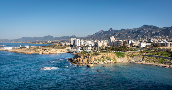 Kyrenia-coastline-North-Cyprus - Photographs of famous buildings and places in North Cyprus.