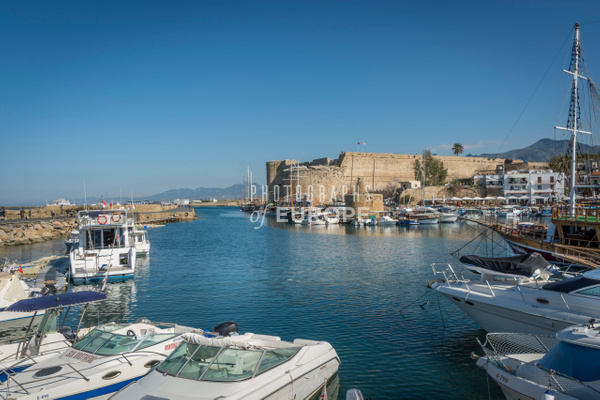 Kyrenia-harbour-and-castle-North-Cyprus - Photographs of famous buildings and places in North Cyprus.